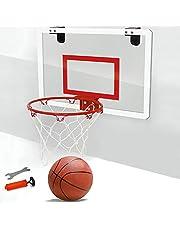 Soldmore7 - Canasta de baloncesto con panel posterior a prueba de roturas, libre de ruidos, con soporte de pared para montaje arriba de la puerta, juego para casa, despacho, dormitorio, etc.