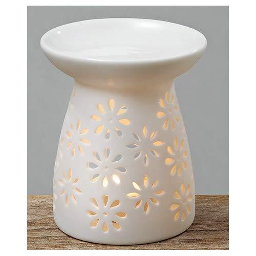 Duftstövchen Aromalampe Duftlampe Keramik weiß