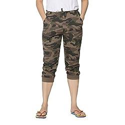 Clifton Womens Cotton Army Comfort Capri Pants