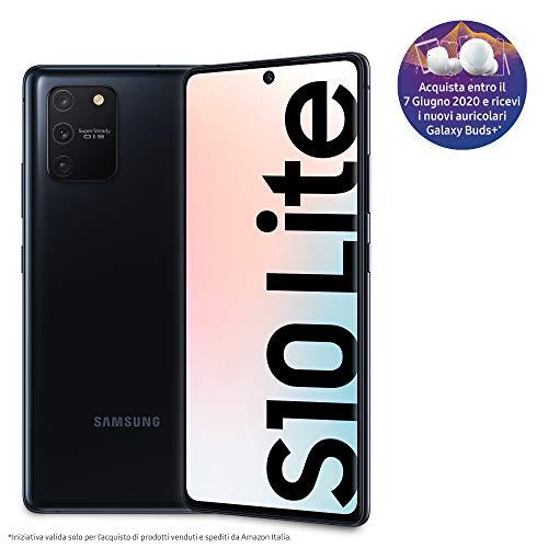 Samsung Galaxy S10 Lite Smartphone, Display 6.7' Super AMOLED, 3 Fotocamere Posteriori, 128 GB Espandibili, RAM 8 GB, Batteria 4500 mAh, 4G, Hybrid Sim, Android 10, [Versione Italiana], Prism Black