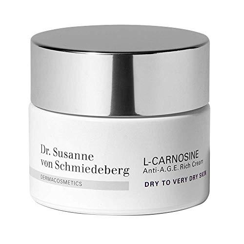 Dr. Susanne von Schmiedeberg L-Carnosine Anti-A.G.E. Rich Cream für trockene bis sehr trockene Haut – Feuchtigkeits- & Anti-Aging Pflege – 1 x 50 ml