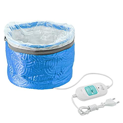 Ulable La Gorra Para El Cuidado Del Pelo,Tratamiento Térmico Para Cabello Eléctrico,Cuidado del Cabello en el Hogar (Azul)