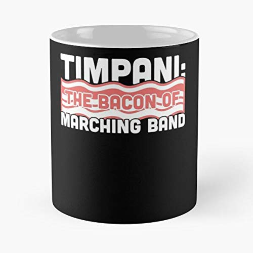 Chair Camp First Drums Marching Clever Funny Band Timpani I FSGdesign- Best Mug holds hand 11 oz made from White marble ceramic