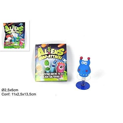 DueEsse Distribuzioni- Conf. 8 Bustine Alien Jump-Attack, Colore, 2S_ALIEN8