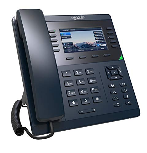 ClearlyIP 270 VoIP Phone with POE (or AC Adapter Sold Separately), 16 SIP (Phone Lines) Support, 36 Soft Keys with 4.3 Inch Color LCD Display