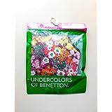 Undercolors of Benetton ピンク花柄ブラジャー M ハーフトップ ノンワイヤー フローラル アンダーカラーズベネトン