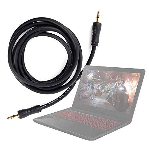 DURAGADGET Cable De Audio Portátil ASUS TUF Gaming FX504GD-DM883, ASUS TUF Gaming FX504GD-EN421, ASUS TUF Gaming FX504GD-EN561, ASUS TUF Gaming FX705GD-EW082 - con Conexión de 3.5mm Y Bañado En Oro