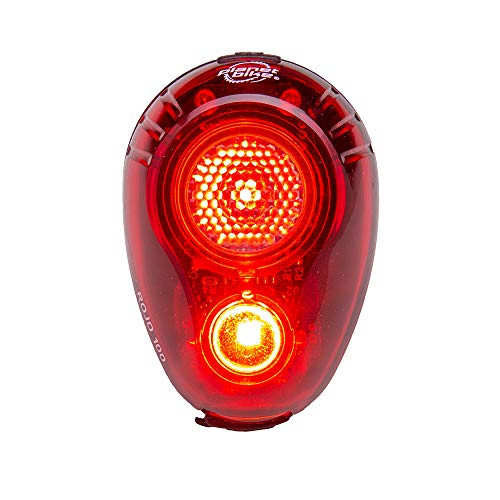 Planet Bike Rojo 100 Bike Rear Tail Light, Daytime Running Lights for Bicycles, 100 Lumen Output, USB Rechargeable, Red