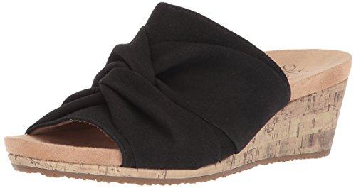 LifeStride Women's Mallory Wedge Sandal, Black, 6.5 M US