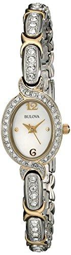 Bulova Women's 98L005 Swarovski Crystal Two Tone Bracelet Watch