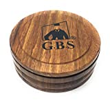 GBS Men's Wood Shaving Bowl with Lid 3.5' Diameter - Keep Shave Cream & Shave Soap Clean with Cover. Wood Grains Will Accent Any Shaving Razor, Shave Brush or Barber Accessory. Enhance Your Wet Shave