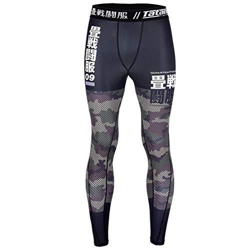 Tatami Fightwear Essential Camo Spats Green - Compression Pants For Men - Fitness Training Jitsu MMA Gym-s