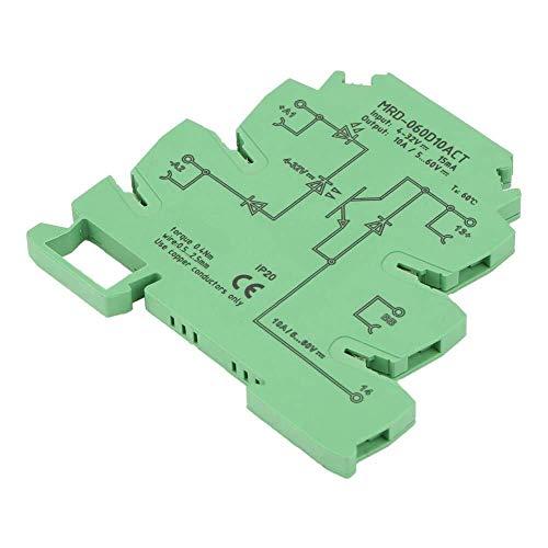Yongenee DIN Rail Relay, durable de 6.2mm ultra-delgada sólido DC de entrada del módulo de relé Estado 4-32VDC NO con entrada LED Estado Indicador de protección IP20 Shell sin contacto Herramientas in