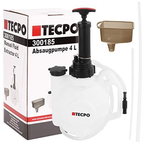 TECPO Absaugpumpe Manuell 4 Liter Motoröl Absaugpumpe Umfüllpumpe Handpumpe