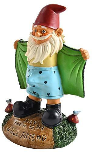 naughty gnome statue