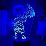 DAJIE Figura de Roronoa Zoro de Anime One Piece, luz nocturna LED para niños, decoración de habitaci...