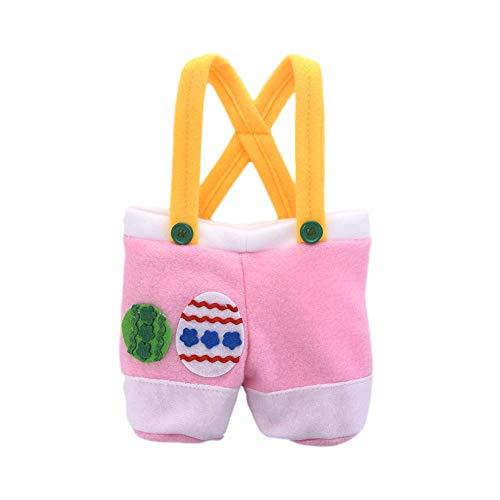 HEIRAO Easter Bunny Pants-förmige Süßigkeiten-Tasche, tragbare Geschenk-Ei-Tasche für Weihnachten Hochzeit Party Engagement Engagement Favor