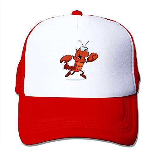 Preisvergleich Produktbild Voxpkrs Cute Crawfish Mesh Trucker Caps / Hats Adjustable for Unisex Black