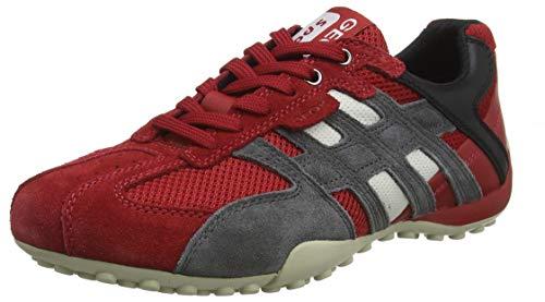 Geox Herren Uomo Snake K Sneaker, Rot (Red/Black C0020), 47 EU