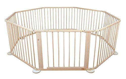 MALATEC Laufstall für Tiere Holz 8/6 Teile Faltbar Rund 5,4 m²-7,2 m² Quadratisch Hasen Hunde1803, Größe:8 Teilig