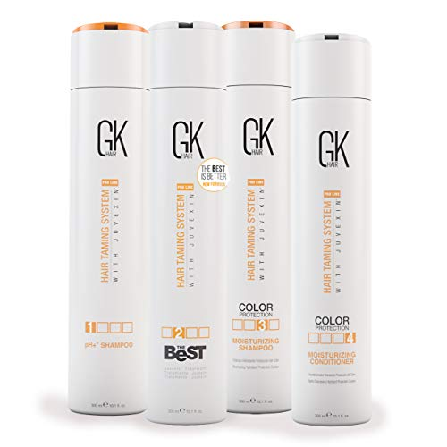 Global Keratin GKhair The Best Professional Hair Straightening, Smoothing Keratin Treatment Kit (300 ml / 10.1 fl.oz) For Silky, Smooth Natural Hair - New Formula