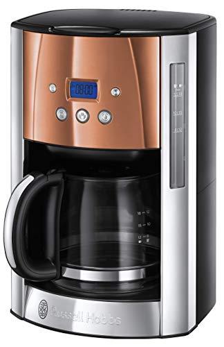 Russell Hobbs Luna Filter 24320 - Cafetera programable con temporizador y auto mantiene caliente, cobre
