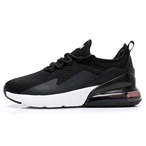 TORISKY Sneaker Herren Damen Air Laufschuhe Turnschuhe Sportschuhe Schuhe Fitness Gym Luftkissen(8999-BK/WH46)