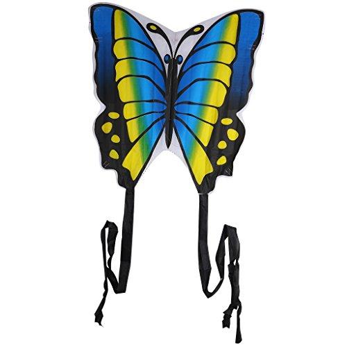chenpaif Schmetterlingsdrachen, 35 Zoll Schmetterlingsdrachen Outdoor Toy Sport Geschenk für Kinder Kinder mit String Tail Blue