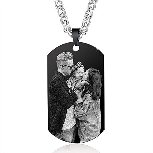 kaululu Personalzied Gifts for Women Men Picture Custom Valentines Couple Jewelry Pendant Gifts for Teenage Girls Birthday Christmas Mom Daughter Necklaces (Picture Style 11)