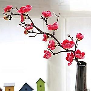 Plum Cherry Blossoms Artificial Silk Flowers Flores Sakura Tree Branches Home Table Living Room Decor Diy Wedding Decoration,Random Color