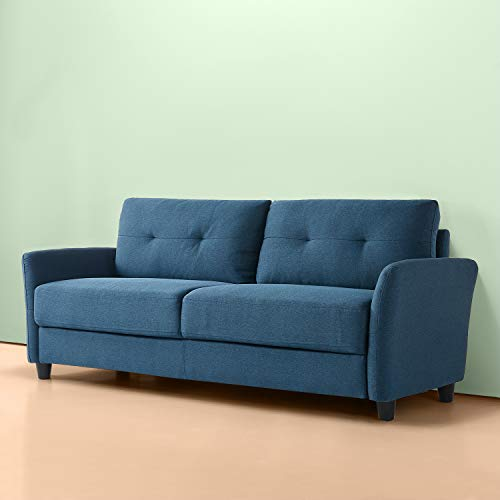 Zinus Ricardo Contemporary Upholstered 78.4 Inch / Living Room Couch, Lyon Blue