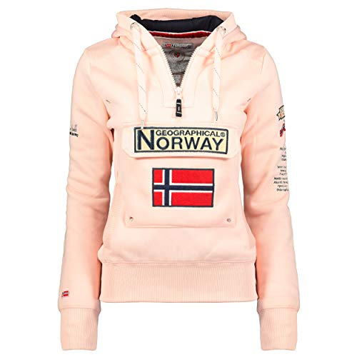 Geographical Norway - Sudadera DE Mujer GYMCLASS Rosa Claro L