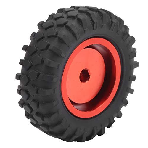 Guoshiy Rueda de camión 1/10, Rueda de camión RC, práctica respetuosa con el Medio Ambiente, aleación de Aluminio + Goma para reemplazo de Rueda de camión para Accesorios de Modelo de Coche(Red R)