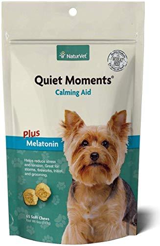 NaturVet Quiet Moments Calming Aid Dog Supplement...