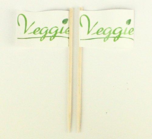 Buddel-Bini Party-Picker Flagge Veggie Blatt Gemüse Papierfähnchen in Profiqualität 50 Stück Beutel Offsetdruck Riesenauswahl aus eigener Herstellung