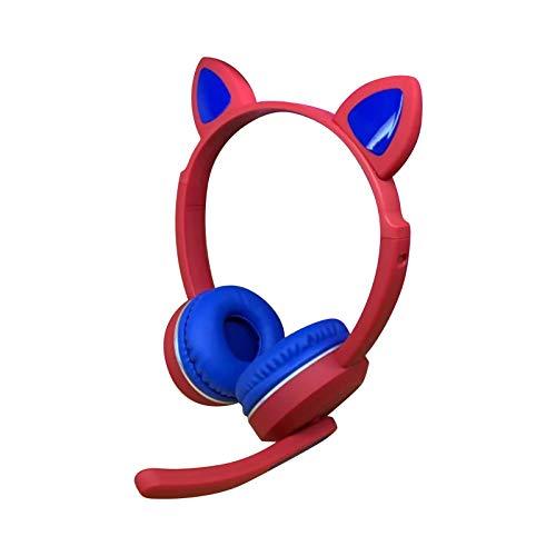 Feigner Happy Childhood - Auriculares de diadema con cable con micrófono con cancelación de ruido, estéreo de graves pesados, plegable, auriculares con cable Bluetooth para regalos infantiles