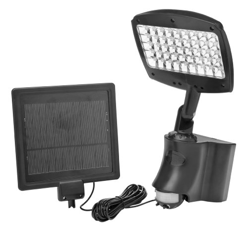 Designers Edge L955 45 LED Rechargeable Motion Activated Solar Flood Light, Black