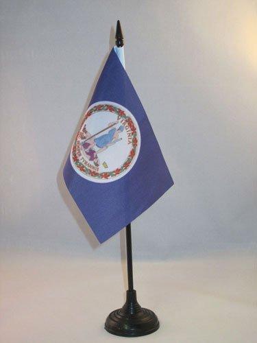 AZ FLAG Drapeau de Table Virginie 15x10cm - Petit Drapeaux DE Bureau Etat américain - USA - Etats-Unis 10 x 15 cm