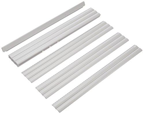 Schellenberg 20095 - Persiana de plástico Maxi para Tubos de Acero de 60 mm - 120 x 140 cm, para Montar en casa, Incluye suspensión, Las persianas se Pueden acortar en Anchura