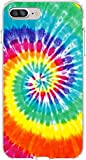 SHARK Rainbow Tie Dye Pattern Clear Case Cover Skin For Iphone 7