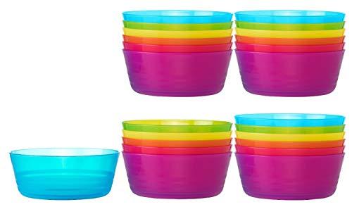 Ikea Kalas BPA-Free Bowl, Assorted Colors, Set of 4, 6 Pack