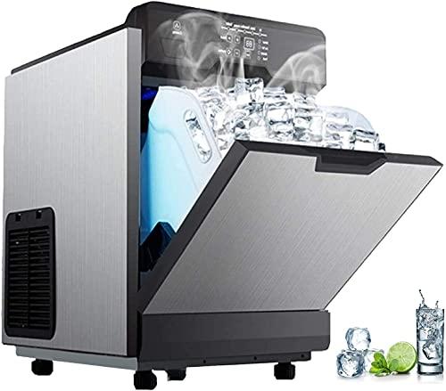 Refrigerador portátil 2 en 1 Máquina de hielo comercial con dispensador de agua56 lbs en una máquina de hielo comercial de 24 horas de 32 cubos en un ciclo para la cafetería de la oficina Mini nevera