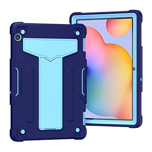 QYiD Funda para Huawei MediaPad T5 10, 3 en 1 Híbrida Carcasa a Prueba de Golpes Protector Case con Soporte para Huawei MediaPad T5 10.1' 2018(AGS2-W09/L09/L03/W19, Azul Marino/Azul
