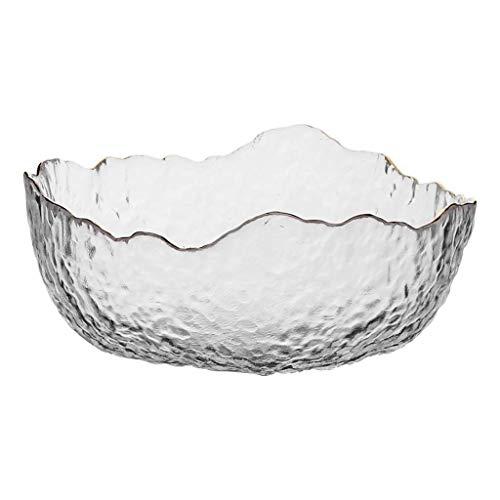 CAIJINJIN Bowl Ceramic Bowl Salad Folk Culture Bowl Home Simple Large Capacity Creative Crystal Glass Salad Folk Culture Bowl