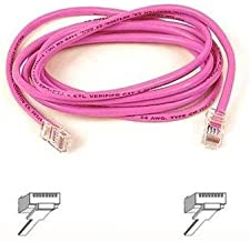 Belkin A3L791-07-PNK 7 ft. Cat 5E Pink Color Patch Network Cable