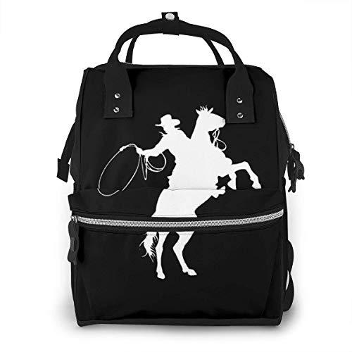 Cowboy Paard Rider Luiertas Mode Waterdichte Multi-Functie Reizen Rugzak Grote luiertassen Mummy Rugzak voor Baby Zorg