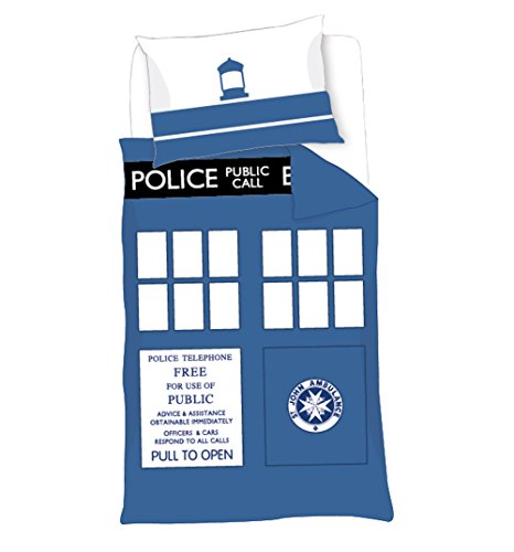 BBC Worldwide Doctor Who Timelord TARDIS Single Duvet Cover Set