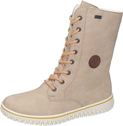Rieker Damen Z4249 Mode-Stiefel, beige, 37 EU