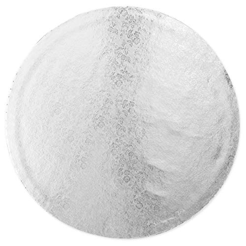 Professional Smooth Round Cake Drums Silver Foil Wrapping 14 in