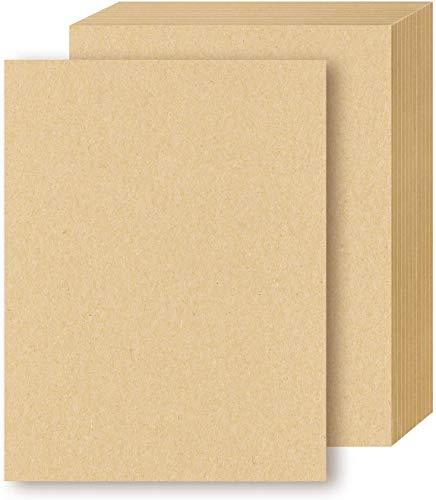 Papel Kraft A4, 100 unidades, tamaño carta, papel de papelería marrón para artes, manualidades y uso en la oficina, 120 g/m²
